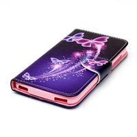 Peněženkové pouzdro na mobil Acer Liquid Z630 - kouzelní motýlci - 3/6