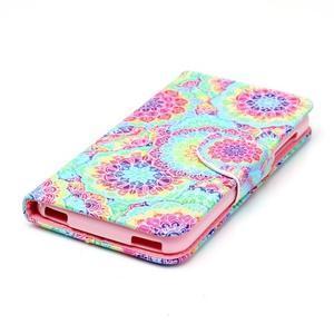 Peněženkové pouzdro na mobil Acer Liquid Z630 - barevné květy - 3