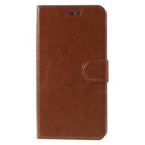 Horse peňaženkové puzdro pre Acer Liquid Z630 - hnedé - 3