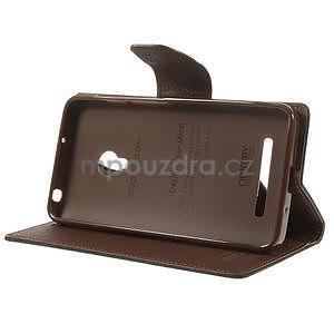 Čierné/hnedé peňaženkové puzdro na Asus Zenfone 5 - 3