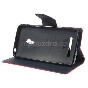 Rose/tmavě modré peňaženkové puzdro na Asus Zenfone 5 - 3