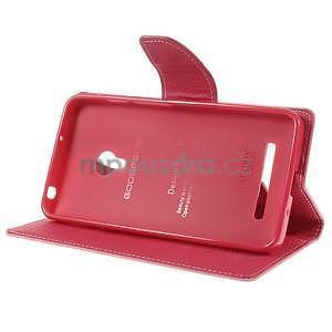 Růžové/rose peňaženkové puzdro na Asus Zenfone 5 - 3