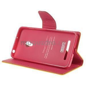 Žluté/rose peňaženkové puzdro na Asus Zenfone 5 - 3