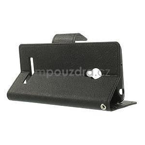 Čierné kožené puzdro Asus Zenfone 5 - 3