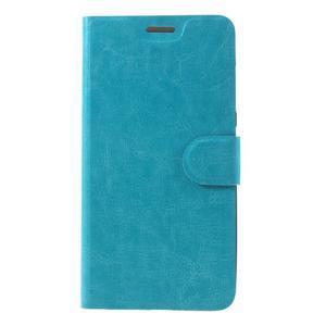 Horse peňaženkové puzdro pre Asus Zenfone Max - modré - 3