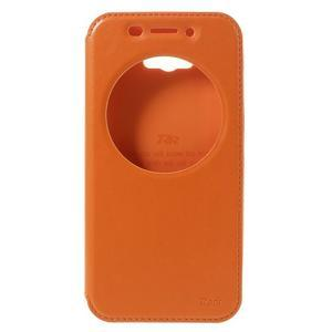 Luxusní puzdro s okienkom pre mobil Asus Zenfone Max - oranžové - 3