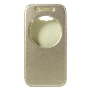 Luxusní pouzdro s okýnkem na mobil Asus Zenfone Max - zlaté - 3