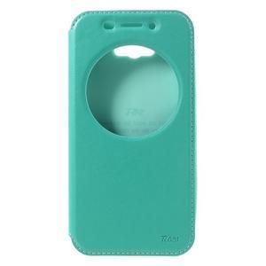 Luxusní puzdro s okienkom pre mobil Asus Zenfone Max - cyan - 3
