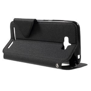 Diary peněženkové pouzdro s okýnkem na Asus Zenfone Max - černé - 3