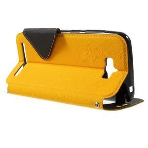 Diary peněženkové pouzdro s okýnkem na Asus Zenfone Max - žluté - 3
