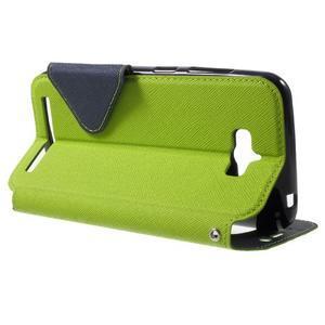 Diary peněženkové pouzdro s okýnkem na Asus Zenfone Max - zelené - 3