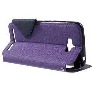 Diary peněženkové pouzdro s okýnkem na Asus Zenfone Max - fialové - 3
