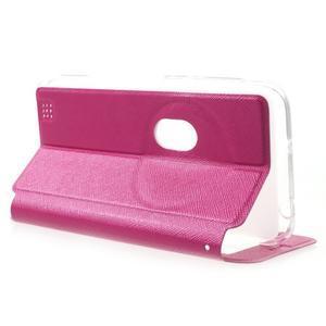 Peňaženkové puzdro s okienkom pre Asus Zenfone Zoom - rose - 3