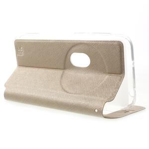 Peňaženkové puzdro s okienkom pre Asus Zenfone Zoom - zlaté - 3