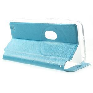 Peněženkové pouzdro s okýnkem na Asus Zenfone Zoom - modré - 3