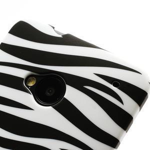 Plastový kryt pre HTC One M7 - zebra - 3