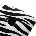 Plastový kryt pre HTC One M7 - zebra - 3/4