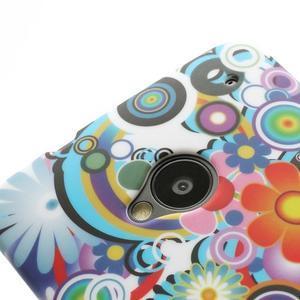 Plastový kryt pre HTC One M7 - kvety - 3