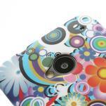Plastový kryt pre HTC One M7 - kvety - 3/5