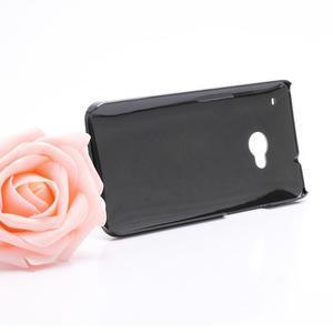 Broušený hliníkový plastový kryt pre HTC One M7 - čierny - 3