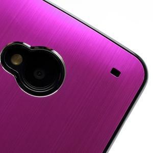Broušený hliníkový plastový kryt na HTC One M7 - rose - 3