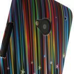 Plastový kryt pre HTC One M7 - meteor - 3/4