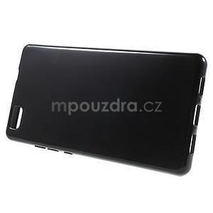 Lesklý gelový obal na Huawei P8 Lite - černý - 3