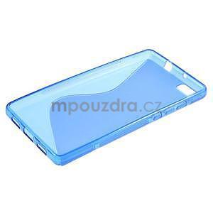Modrý S-line gelový obal na Huawei Ascend P8 Lite - 3