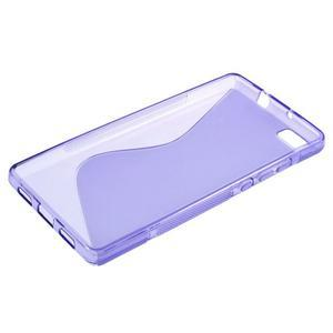 Fialový S-line gelový obal na Huawei Ascend P8 Lite - 3