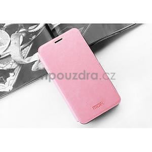 PU kožené pouzdro na Huawei P8 Lite - růžové - 3