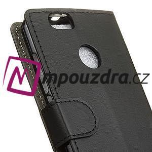 Wally PU kožené puzdro na mobil Huawei Nova - čierne - 3