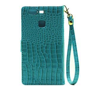 Croco peněženkové pouzdro na Huawei P9 - modré - 3