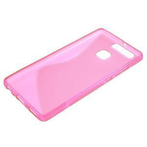 S-line gelový obal na mobil Huawei P9 - rose - 3