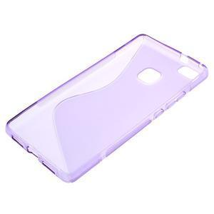 S-line gélový obal pre mobil Huawei P9 Lite - fialový - 3