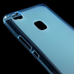 Matný gélový obal pre mobil Huawei P9 lite - modrý - 3
