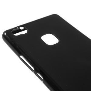 Matný gelový obal na mobil Huawei P9 lite - černý - 3