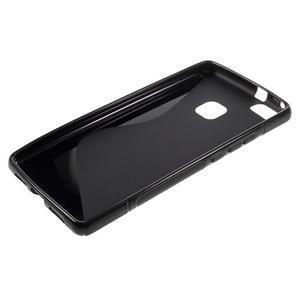 S-line gélový obal pre mobil Huawei P9 Lite - čierny - 3