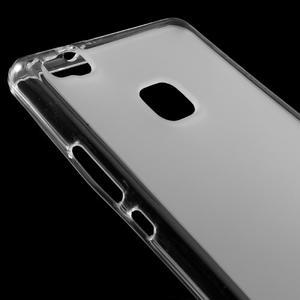 Matný gélový obal pre mobil Huawei P9 lite - transparentné - 3
