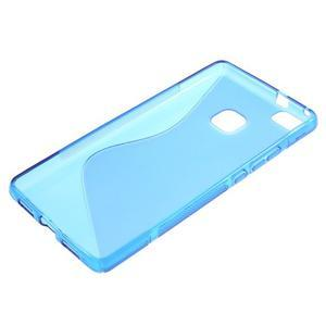 S-line gelový obal na mobil Huawei P9 Lite - modrý - 3