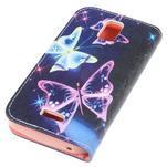 Peněženkové pouzdro na mobil Huawei Y3 a Y360 - kouzelní motýlci - 3/6
