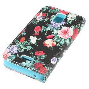 Peněženkové pouzdro na mobil Huawei Y3 a Y360 - květiny - 3