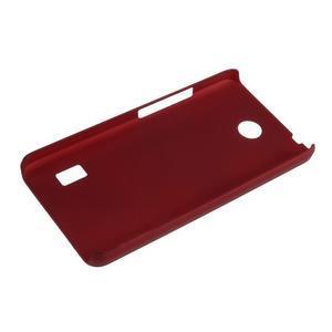 Červený pogumovaný plastový kryt na Huawei Y635 - 3