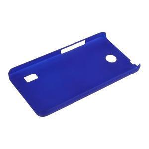 Modrý pogumovaný plastový kryt na Huawei Y635 - 3