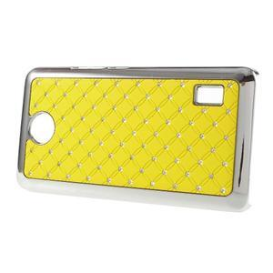 Drahokamový plastový kryt na Huawei Y635 - žltý - 3