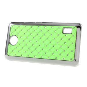 Drahokamový plastový kryt na Huawei Y635 - zelený - 3