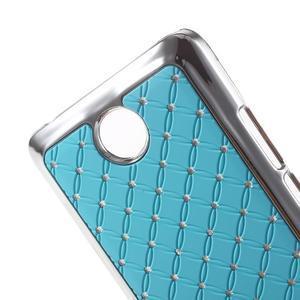 Drahokamový plastový kryt na Huawei Y635 - svetlo modrý - 3