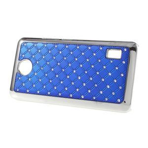 Drahokamový plastový kryt na Huawei Y635 - modrý - 3