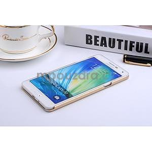 Zlatý kovový kryt na Samsung Galaxy A3 - 3