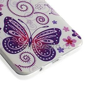 Gélový obal pre Samsung Galaxy A3    - motýl a kruhy - 3
