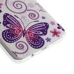 Gélový obal pre Samsung Galaxy A3    - motýl a kruhy - 3/6